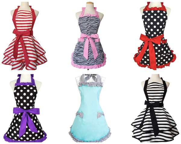 Women's Retro Flirty Aprons