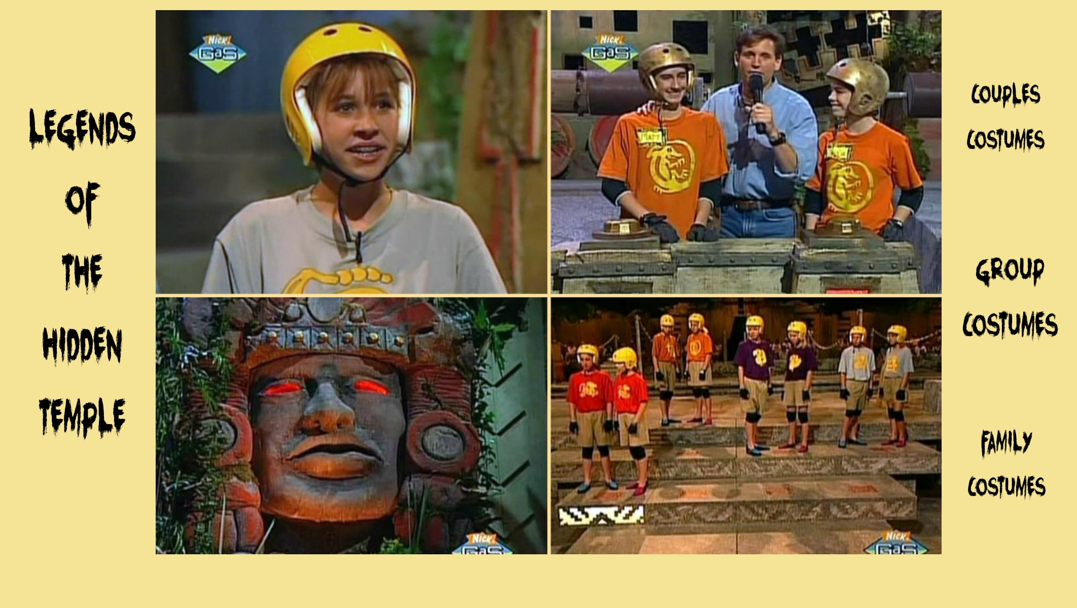Throwback Halloween Costumes Legends of the Hidden Temple Costumes