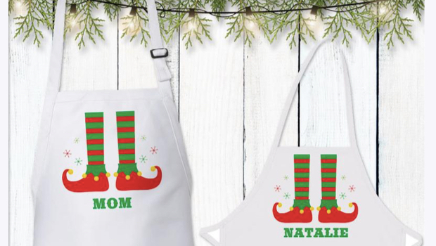 Personalized Family Elf Aprons